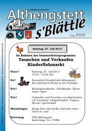 KW 30/2013 - Althengstett