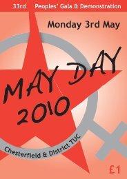 Chesterfield Mayday 2010 programme - application ... - UK Indymedia