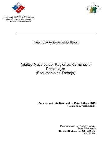 Catastro de Población Adulta Mayor - Instituto Nacional de ...