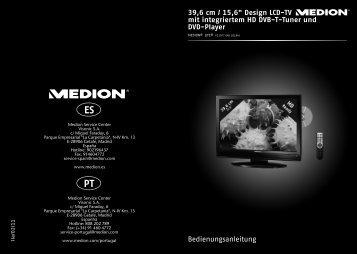 "39 6 cm / 15 6"" Design LCD-TV mit integriertem HD DVB-T ... - Medion"
