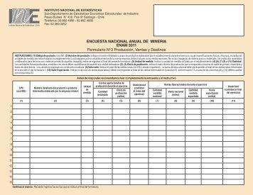 FORMULARIO 3.indd - Instituto Nacional de Estadísticas
