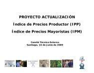 Índice de Precios Mayoristas (IPM) - Instituto Nacional de Estadísticas