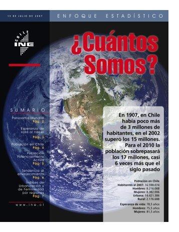 Cuántos somos? (PDF, 1.51 MB) - Instituto Nacional de Estadísticas