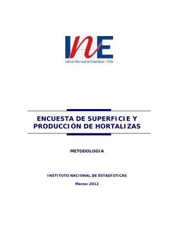 Metodología de la Encuesta Hortícola 2011 - INE Valparaíso