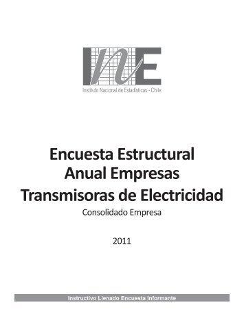 Encuesta Estructural Anual Empresas Transmisoras de Electricidad