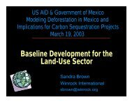 Baseline Development for the Land-Use Sector