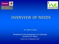 OVERVIEW OF NEEDS Dr. Mario Yarto