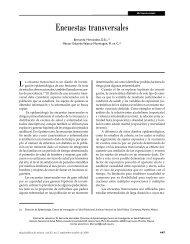 Encuestas transversales - BVSDE Desarrollo Sostenible