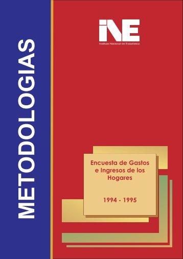 Encuesta de Gastos e Ingresos de los Hogares 1994 - Instituto ...