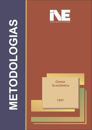 Censo Económico 1997 - Instituto Nacional de Estadística