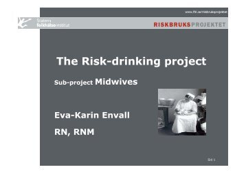 The Risk-drinking project - INEBRIA
