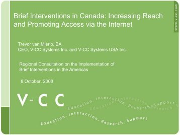 Brief Interventions in Canada: Increasing Reach and ... - INEBRIA
