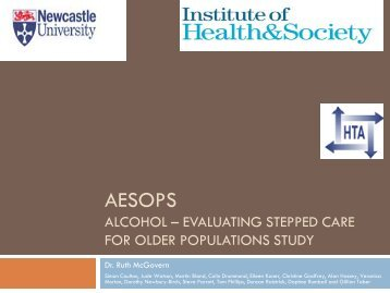 Evaluating Stepped care for Older Populations Study - INEBRIA
