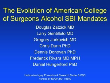 The Evolution of American College of Surgeons Alcohol ... - INEBRIA