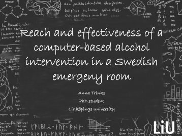 Evaluation of a computerized alcohol intervention ... - INEBRIA