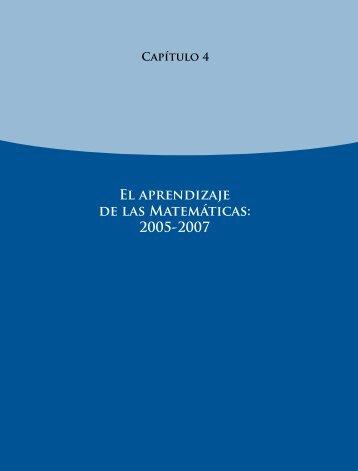 El aprendizaje de las Matemáticas: 2005-2007 - Instituto Nacional ...