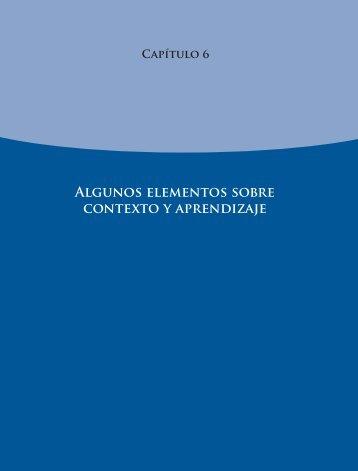 Algunos elementos sobre contexto y aprendizaje - Instituto Nacional ...