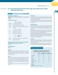 Gasto nacional en educación (absolutos y como porcentaje