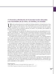 11 Duración y distribución de la jornada escolar adecuadas a las ...