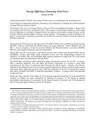 Energy Efficiency Financing Task Force - INEE