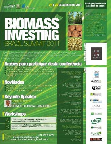 02 FOLHETO - BIOMASS INVESTING BRAZIL SUMMIT 2011 ... - INEE
