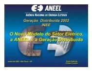 O Novo Modelo do Setor Elétrico, a ANEEL e a Geração ... - INEE