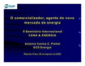 O comercializador, agente do novo mercado de energia - INEE