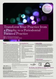 Transform Your Practice from a Prophy to a ... - IneedCE.com