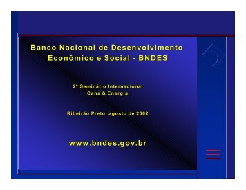 As linhas de financiamento do BNDES - INEE