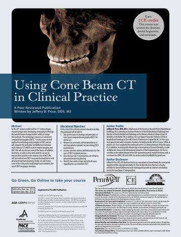 Using Cone Beam CT in Clinical Practice - IneedCE.com