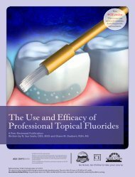 The Use and Efficacy of Professional Topical Fluorides - IneedCE.com