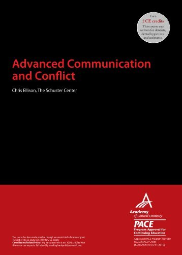 Advanced Communication and Conflict - IneedCE.com