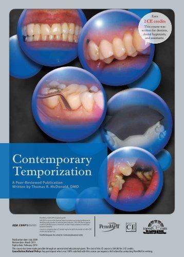Contemporary Temporization - IneedCE.com