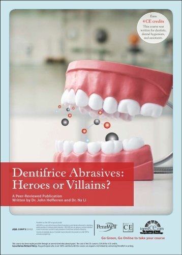 Dentifrice Abrasives: Heroes or Villains - IneedCE.com