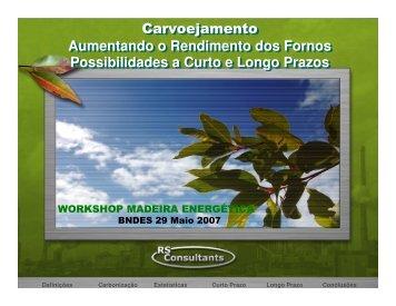 Carvoejamento Aumentando o Rendimento dos Fornos ... - INEE