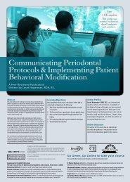 Communicating Periodontal Protocols ... - IneedCE.com