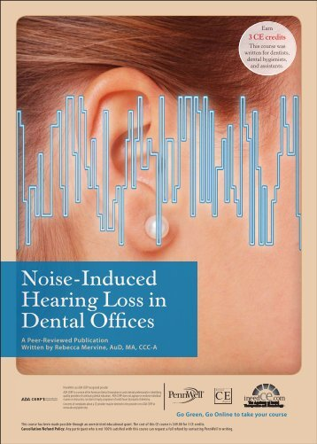 Noise-Induced Hearing Loss in Dental Offices - IneedCE.com
