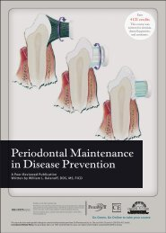 Periodontal Maintenance in Disease Prevention - IneedCE.com