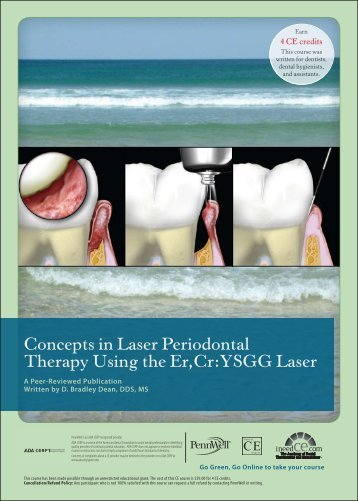 Concepts in Laser Periodontal Therapy Using the Er ... - IneedCE.com