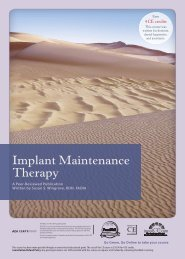 Implant Maintenance Therapy - IneedCE.com