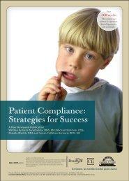 Patient Compliance: Strategies For Success - IneedCE.com