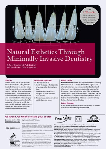 Natural Esthetics Through Minimally Invasive Dentistry - IneedCE.com