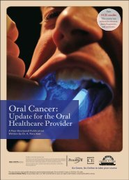 Oral Cancer: Update for the Oral Healthcare Provider - IneedCE.com