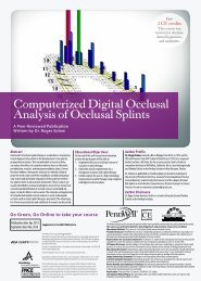 Computerized Digital Occlusal Analysis of Occlusal ... - IneedCE.com