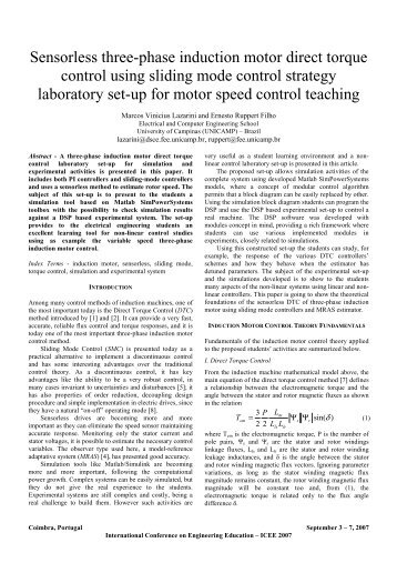 Sensorless three-phase induction motor direct torque ... - iNEER