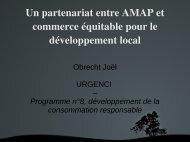 Un partenariat entre AMAP et commerce équitable pour le ...