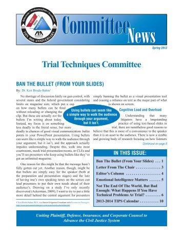 Trial Techniques - American Bar Association