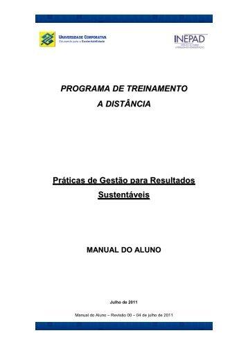PROGRAMA DE TREINAMENTO A DISTÂNCIA Práticas de ... - Inepad