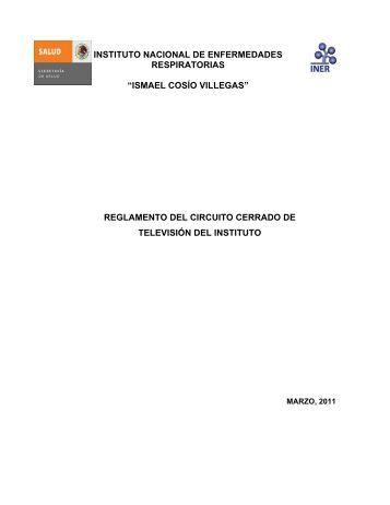 Reglamento interno del Circuito Cerrado de Televisión del Instituto