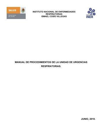 manual de procedimientos de la unidad de urgencias respiratorias ...